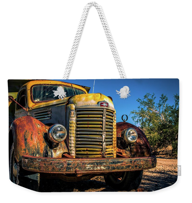 Truck Weekender Tote Bag featuring the photograph Vintage Truck by Mary Hone