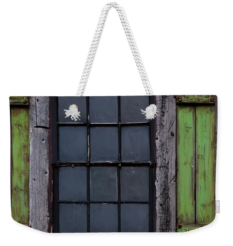 Windows And Doors Weekender Tote Bag featuring the photograph Vintage Windows by David Millenheft