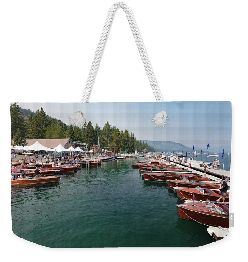 H2omark Weekender Tote Bag featuring the photograph Vintage Wood by Steven Lapkin