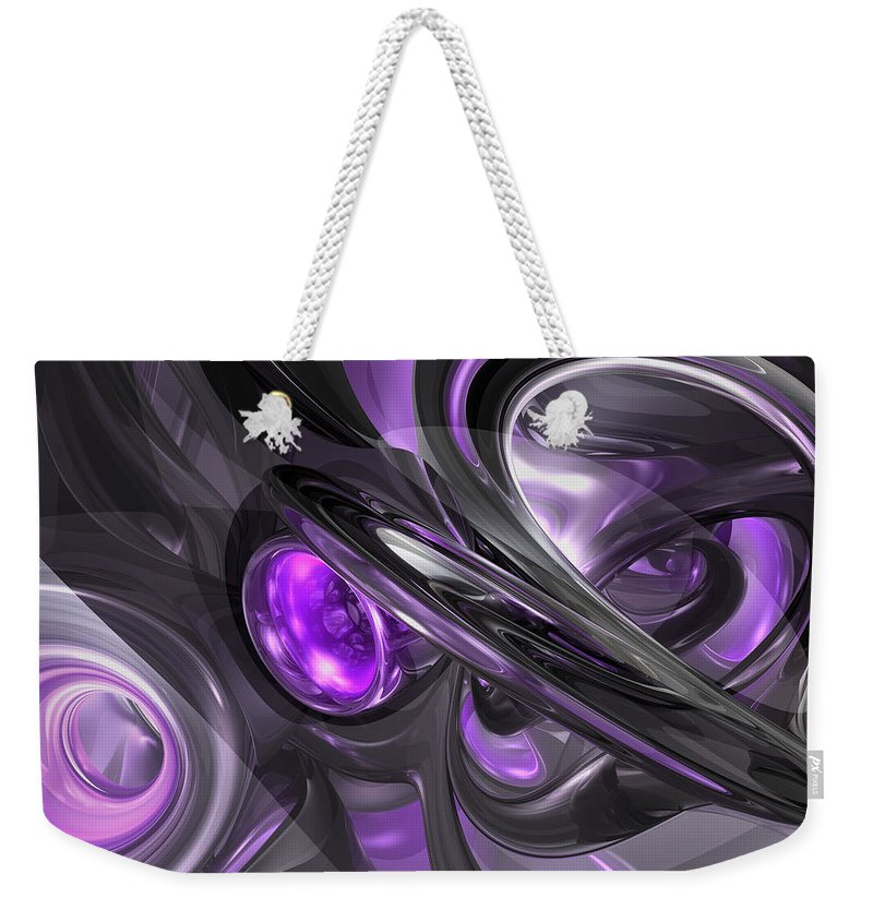 3d Weekender Tote Bag featuring the digital art Violaceous Abstract by Alexander Butler