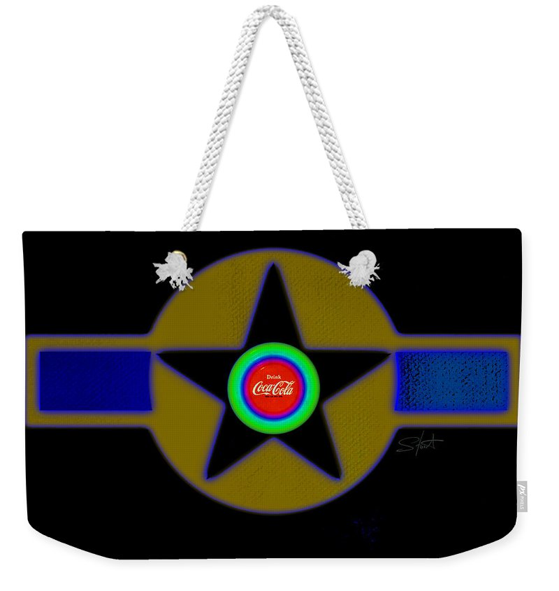 Usaaf Weekender Tote Bag featuring the painting Violet by Charles Stuart