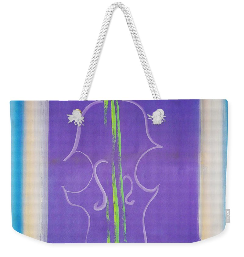 Violin Weekender Tote Bag featuring the painting Violin Vase by Charles Stuart