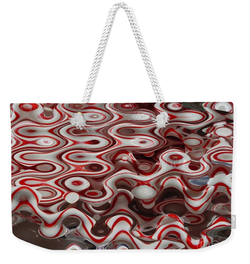 Digital Abstract Art Weekender Tote Bag featuring the digital art Viral Canes by Ron Bissett