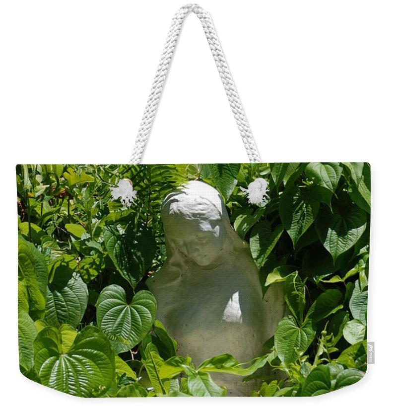 Miami Monastery Weekender Tote Bag featuring the photograph Virgin Mary by Rob Hans