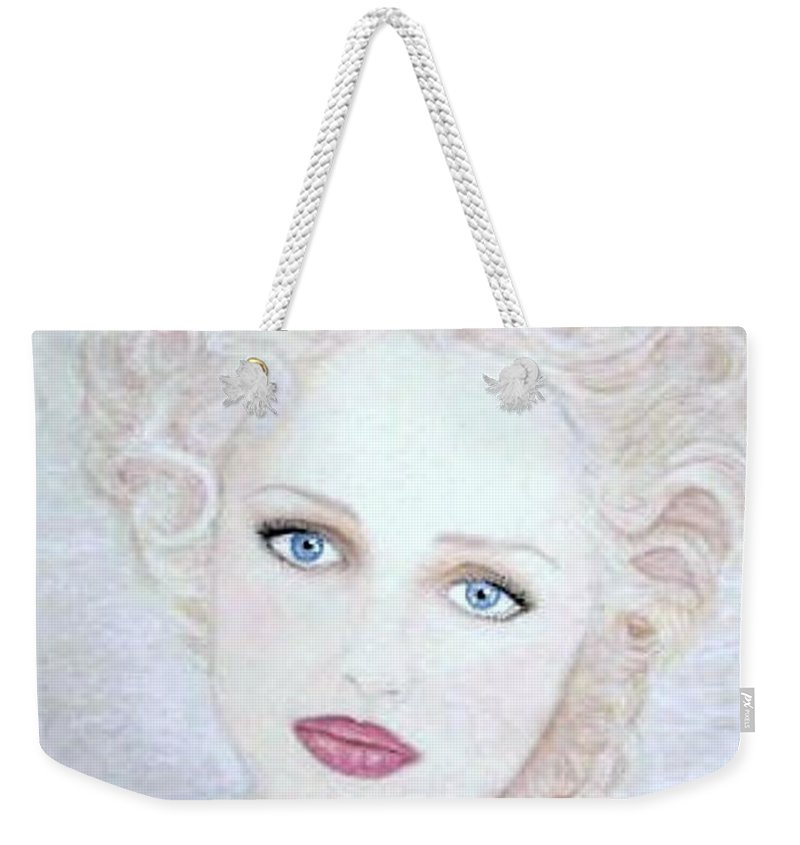 Face Weekender Tote Bag featuring the drawing Virginia by Scarlett Royal