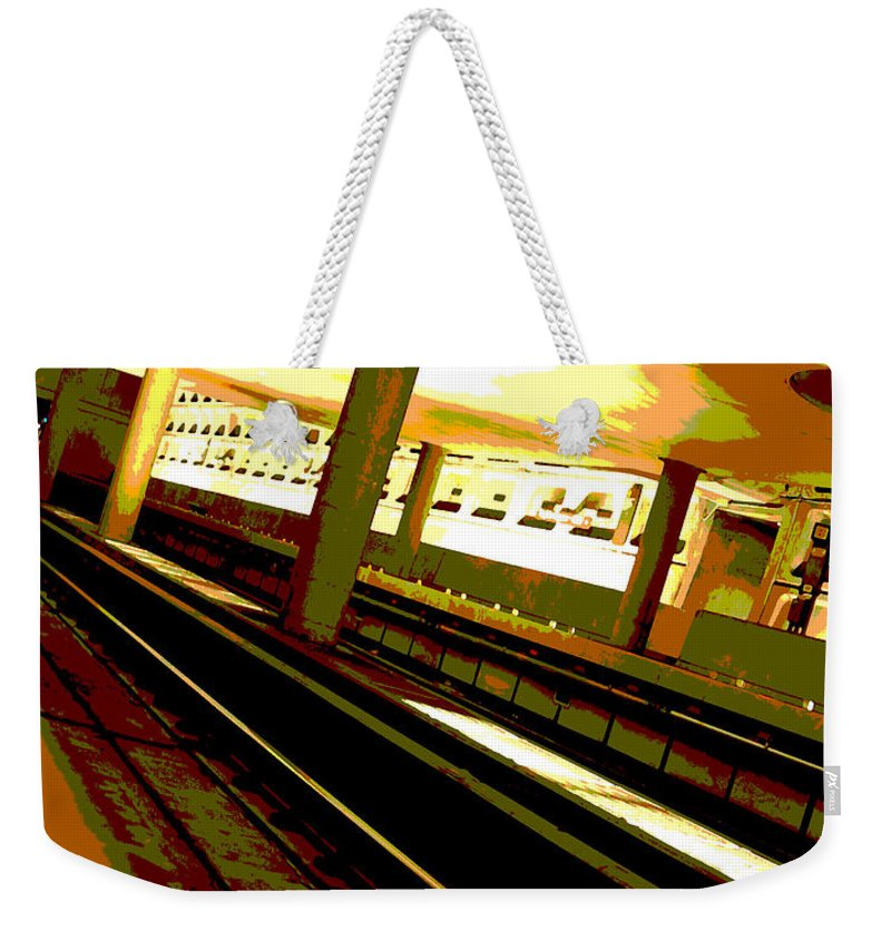 Subway Weekender Tote Bag featuring the photograph Virginia Square Metro I by Michelle Hastings