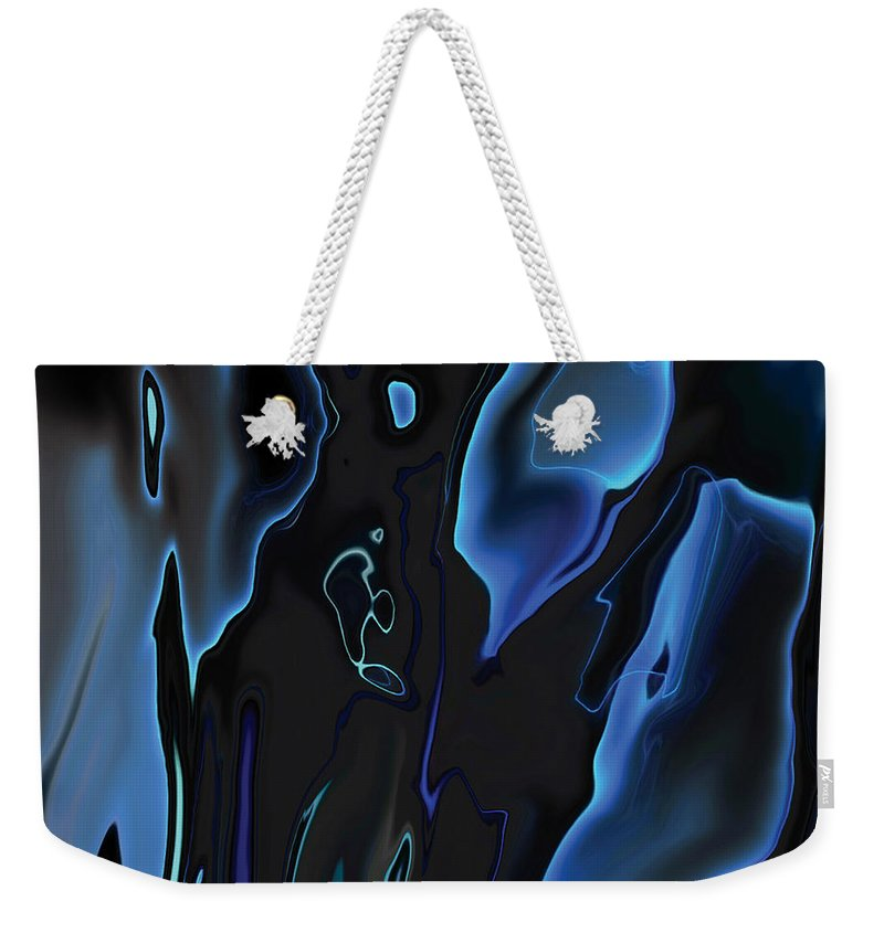 Abstract Weekender Tote Bag featuring the digital art Virtual Life 1 by Rabi Khan