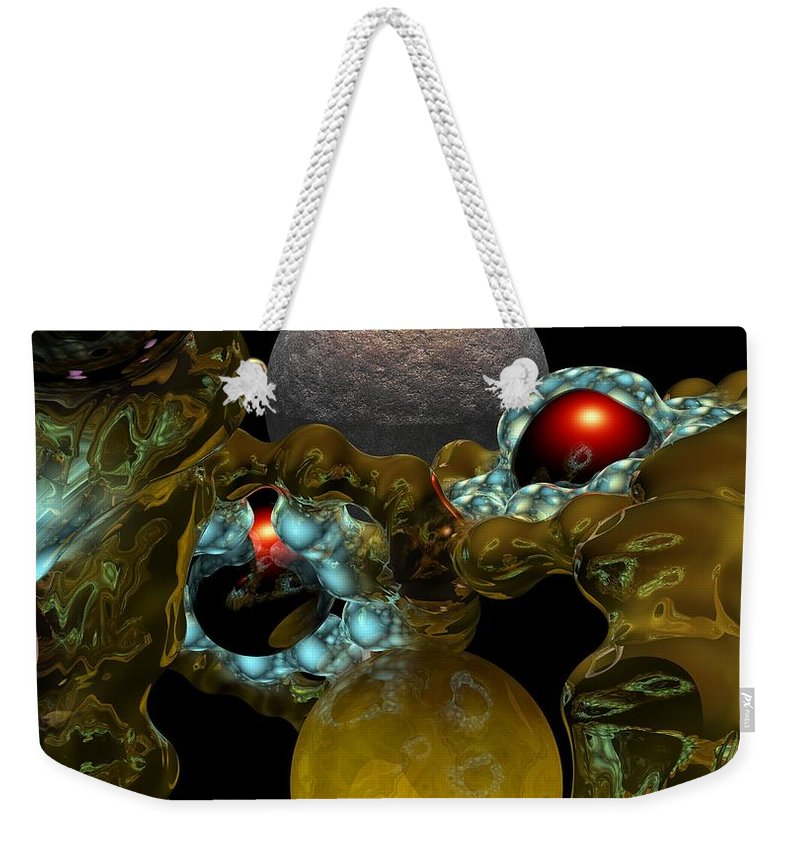 Space Weekender Tote Bag featuring the digital art Virus by David Lane
