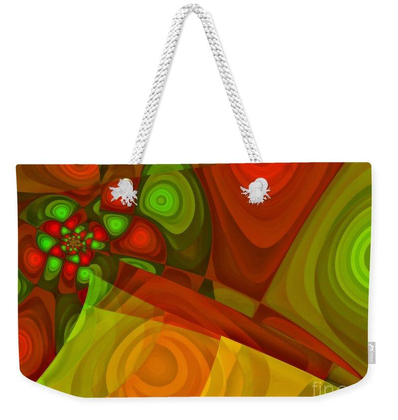 Fractal Weekender Tote Bag featuring the digital art Vision Of Joy by Jutta Maria Pusl