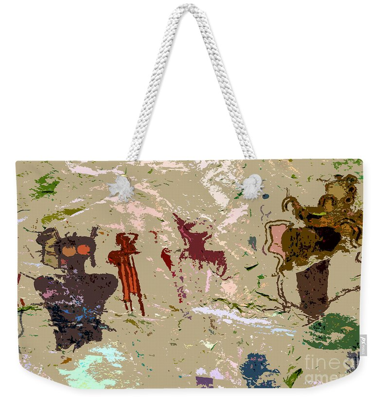 Dreams Weekender Tote Bag featuring the painting Vision Quest by David Lee Thompson