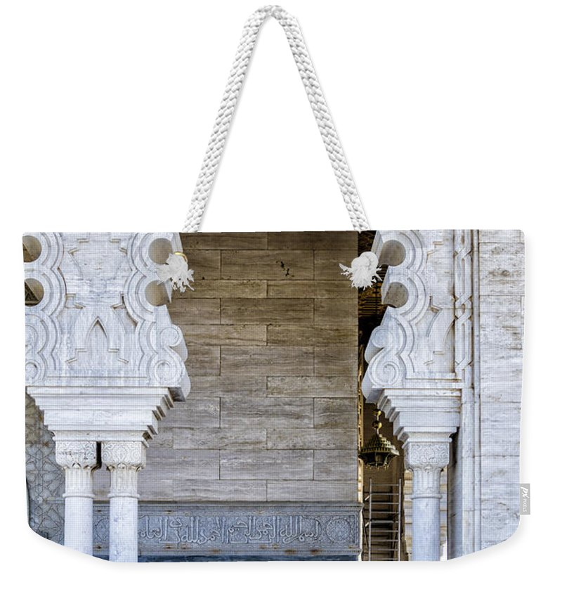 Mausoleum Weekender Tote Bag featuring the photograph Vistors At The Mausoleum by Lindley Johnson