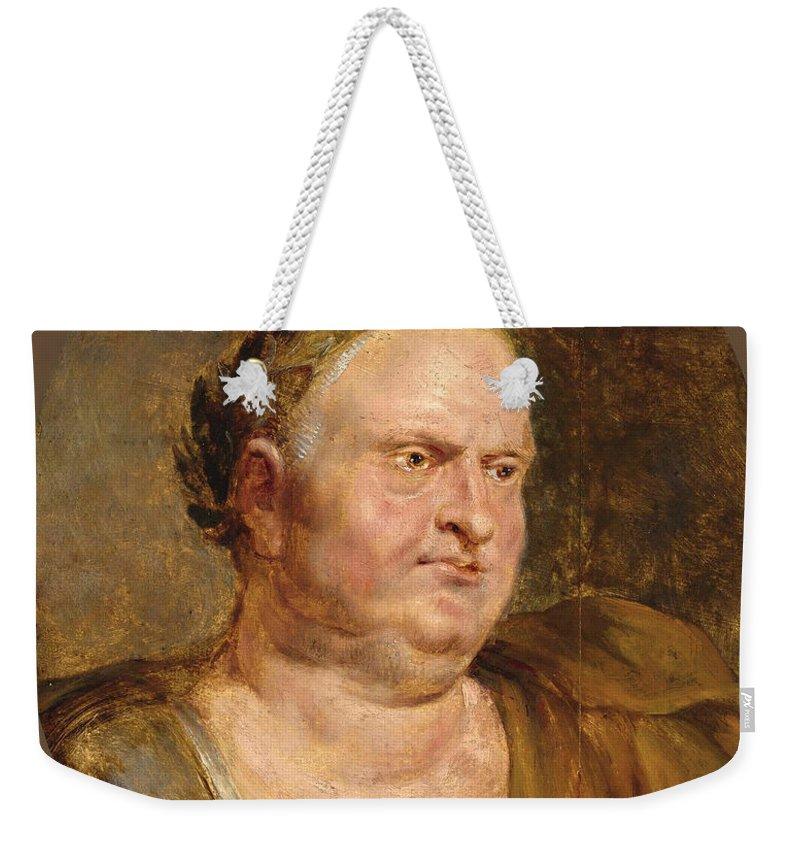 Peter Paul Rubens Weekender Tote Bag featuring the painting Vitellius by Peter Paul Rubens