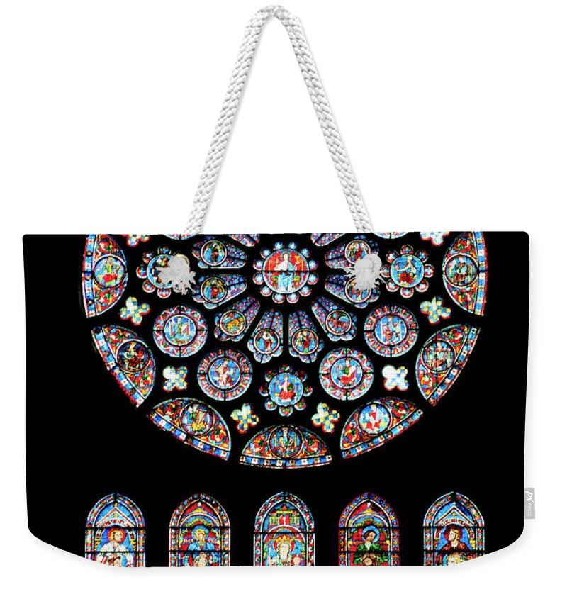 Vitraux Weekender Tote Bag featuring the photograph Vitraux - Cathedrale De Chartres - France by Jean-Pierre Ducondi