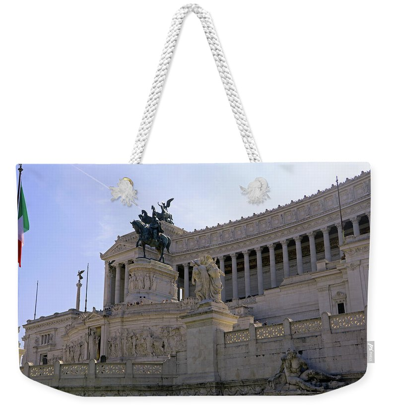 Rome Weekender Tote Bag featuring the photograph Vittorio Emanuele II Monument by Tony Murtagh