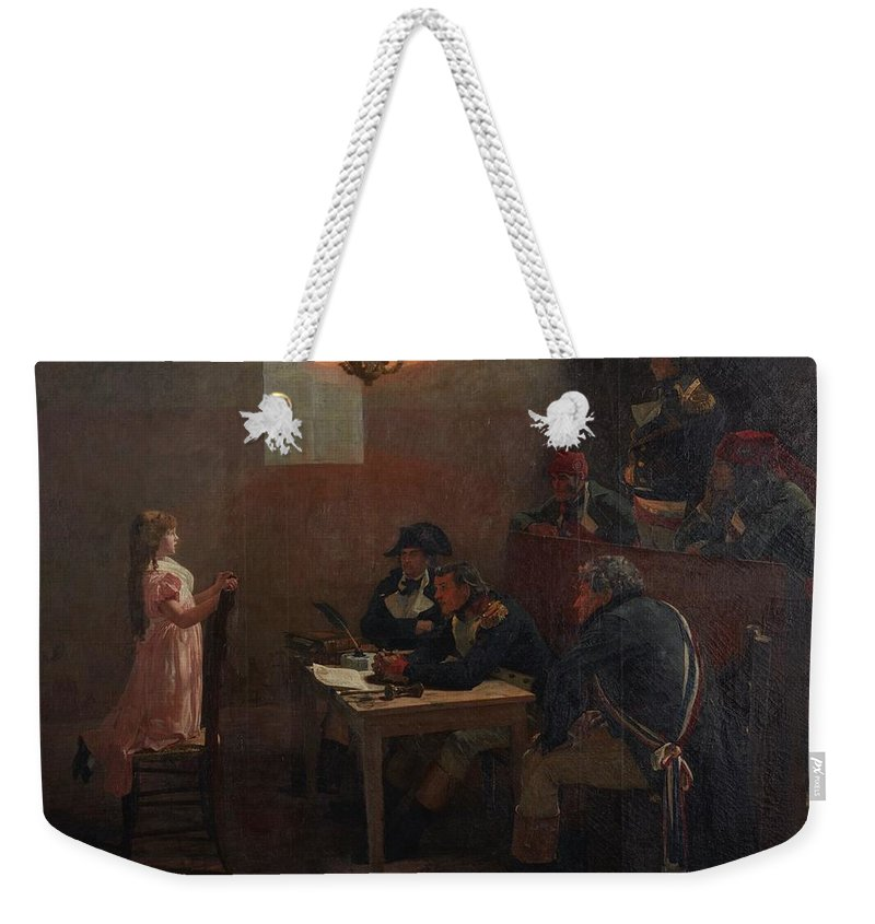 Jean-paul Laurens 1838 - 1921 Vive Le Roi Weekender Tote Bag featuring the painting Vive Le Roi by Jean Paul