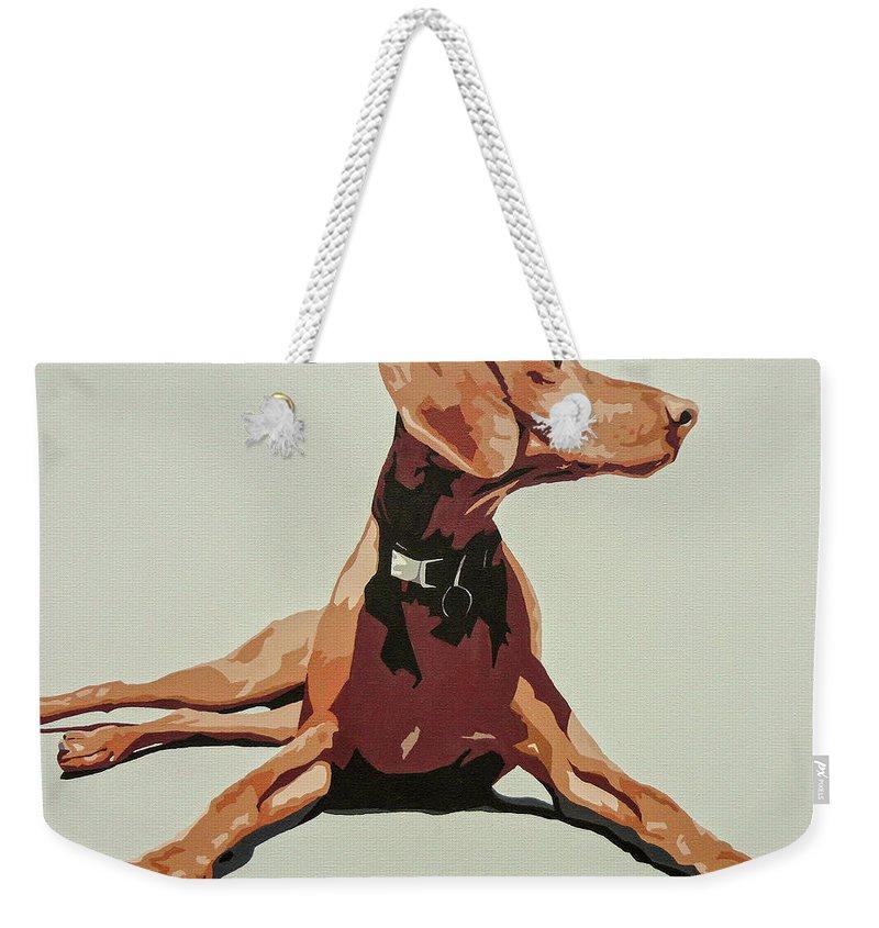 Puppy Weekender Tote Bags