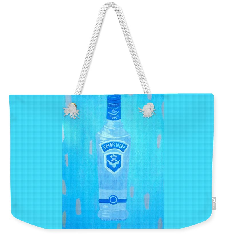 Pop Art Weekender Tote Bag featuring the painting Vodka by Patrice Tullai