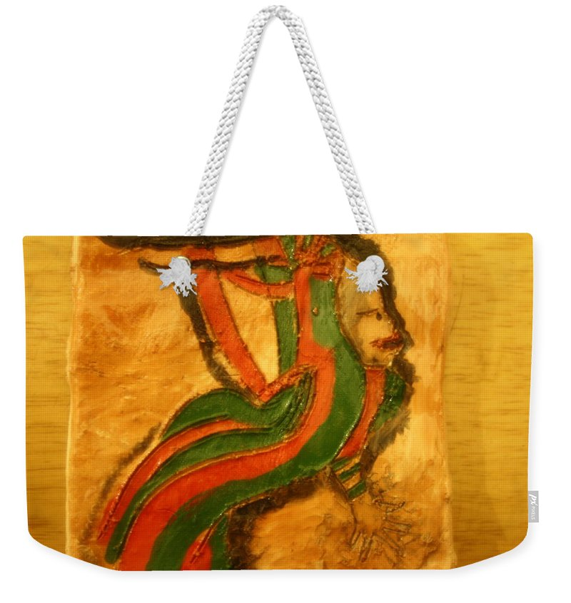 Jesus Weekender Tote Bag featuring the ceramic art Vogue - Tile by Gloria Ssali
