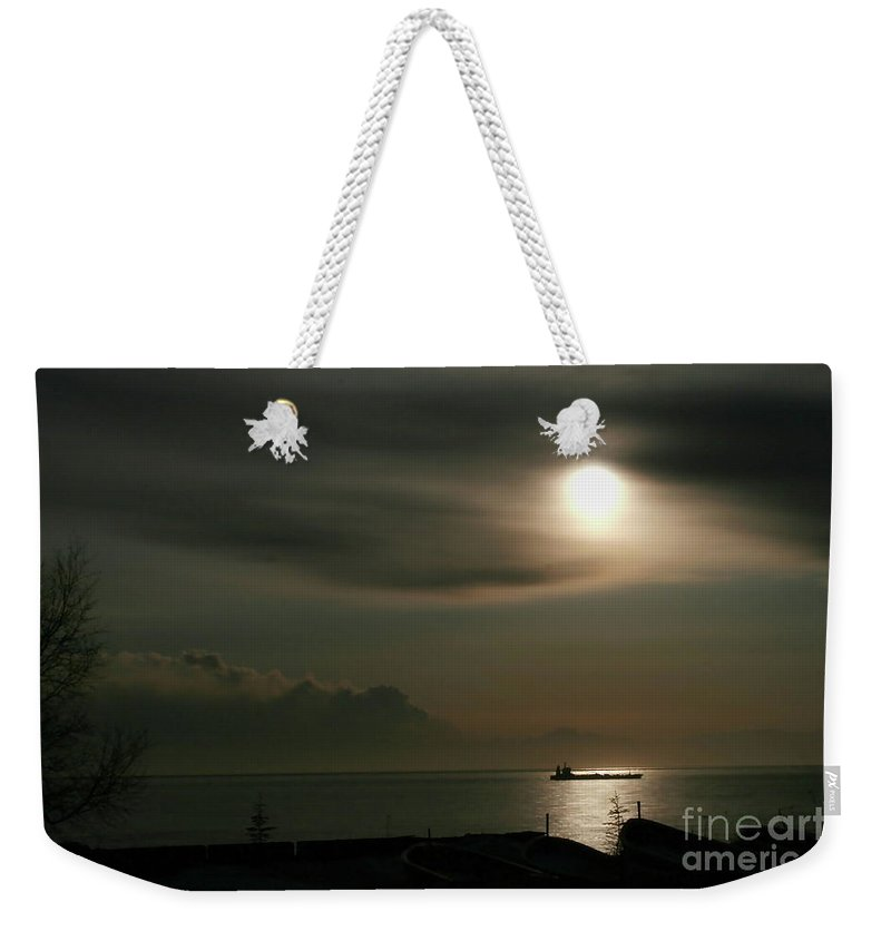 Clouds Weekender Tote Bag featuring the photograph Volcanic Shroud by Rick Monyahan