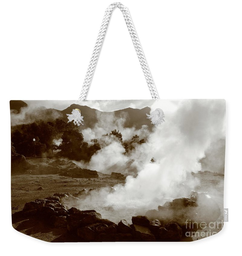 Azores Weekender Tote Bag featuring the photograph Volcanic Steam by Gaspar Avila