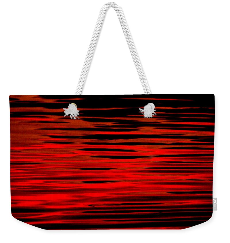 Water Weekender Tote Bag featuring the photograph Volcanic Water by Donna Blackhall