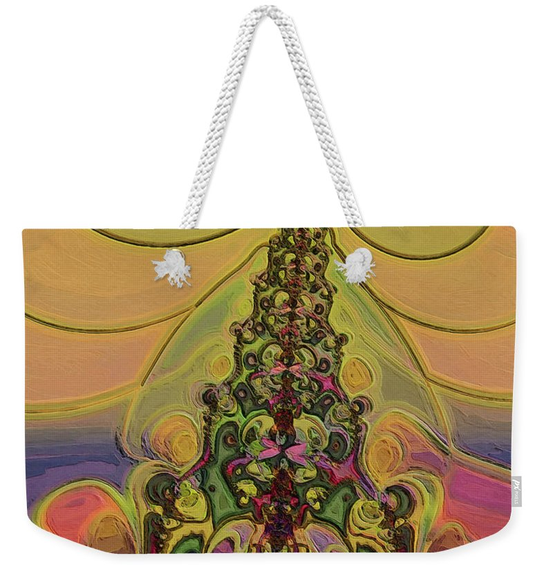 Abstract Art Weekender Tote Bag featuring the digital art Volcano by Alexandru Bucovineanu