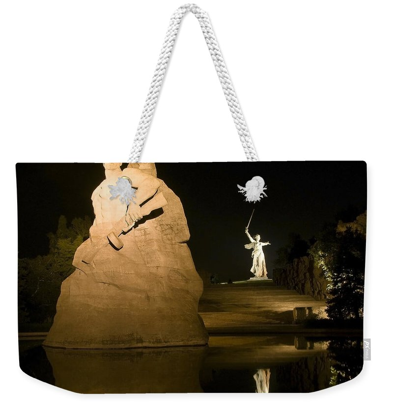 Architecture Weekender Tote Bag featuring the photograph Volgograd2 by Svetlana Sewell