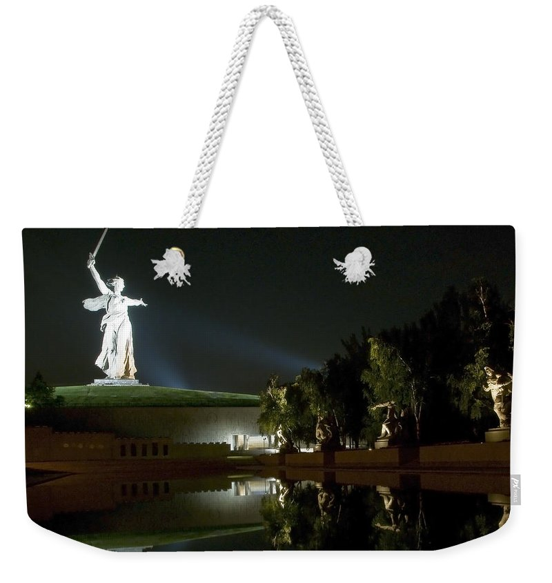 Architecture Weekender Tote Bag featuring the photograph Volgograd3 by Svetlana Sewell