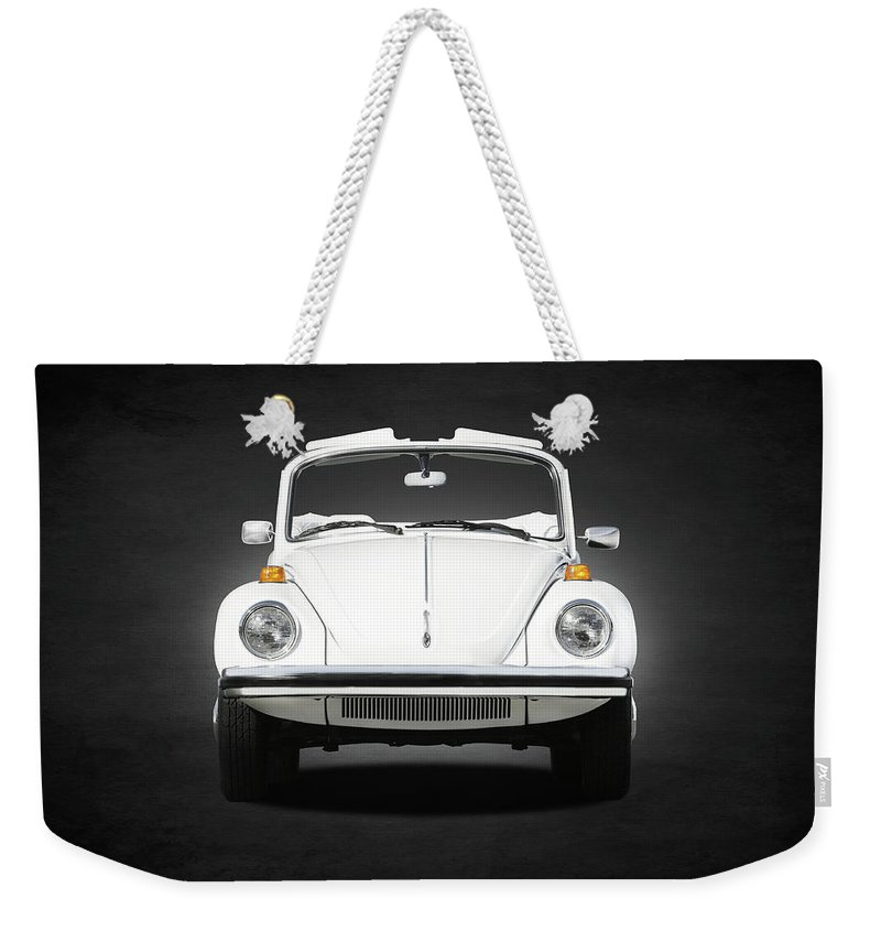 Triple White Super Beetle Weekender Tote Bag featuring the photograph Volkswagen Beetle by Mark Rogan