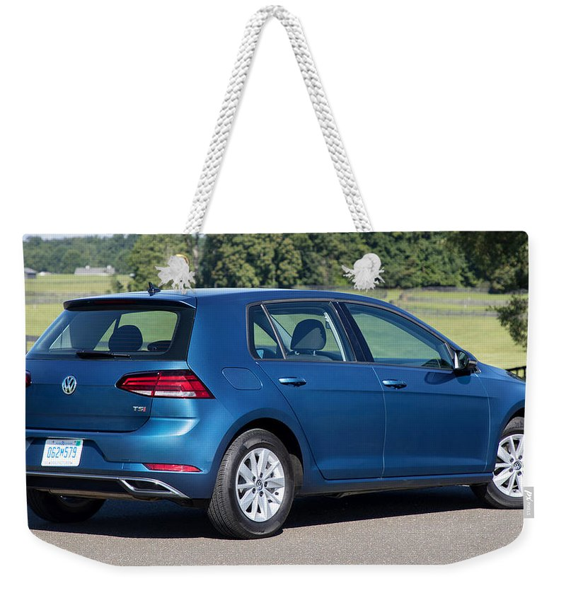 Volkswagen Golf Tsi Weekender Tote Bag featuring the digital art Volkswagen Golf TSI by Super Lovely