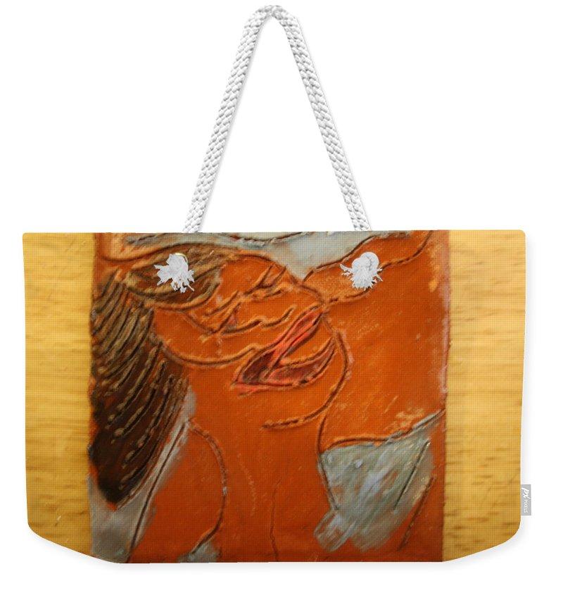 Jesus Weekender Tote Bag featuring the ceramic art Volumes - Tile by Gloria Ssali