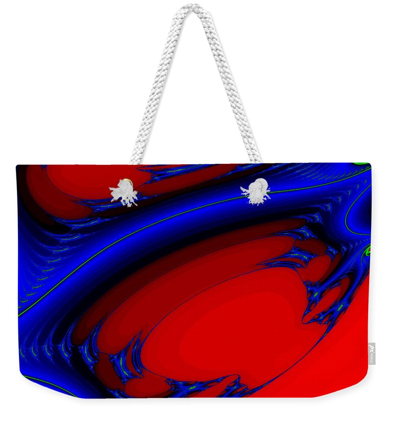 Clay Weekender Tote Bag featuring the digital art Vortex Extreme Fractal by Clayton Bruster