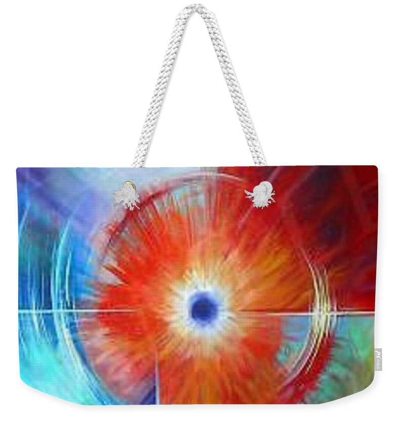 Clouds Weekender Tote Bag featuring the painting Vortex by James Christopher Hill