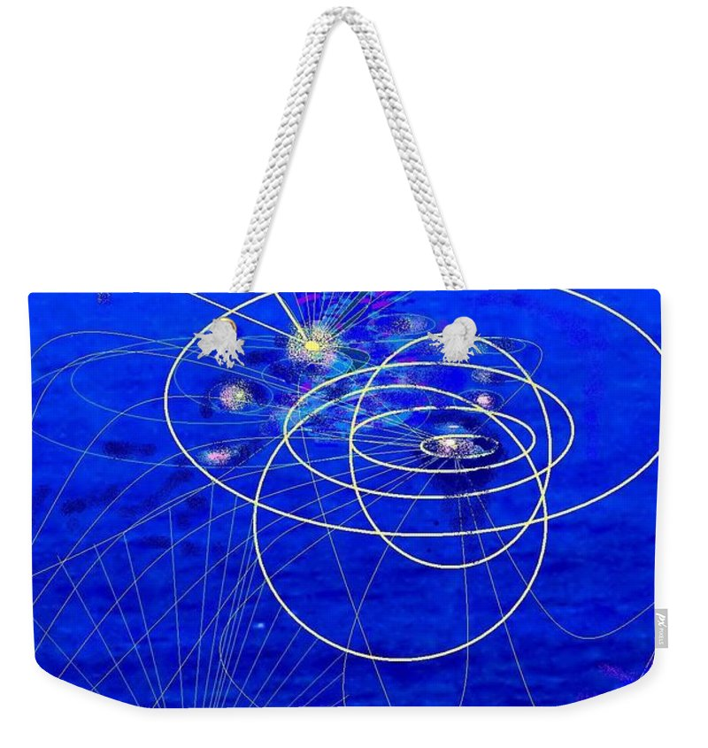 Abstract Weekender Tote Bag featuring the digital art Voyage by Ian MacDonald