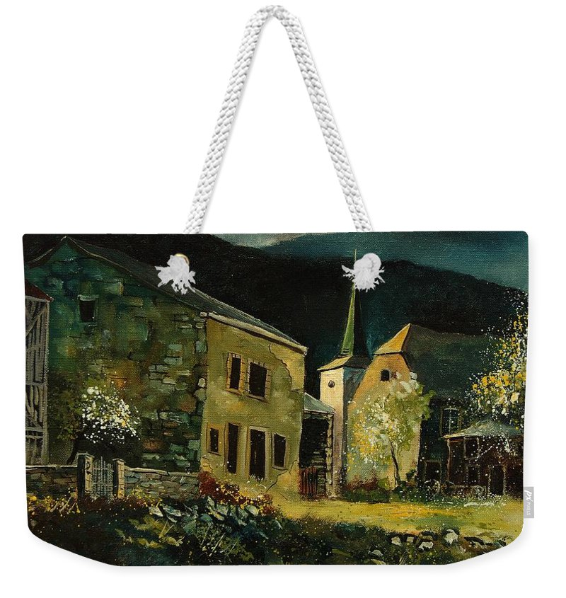 Tree Weekender Tote Bag featuring the painting Vresse 67 by Pol Ledent