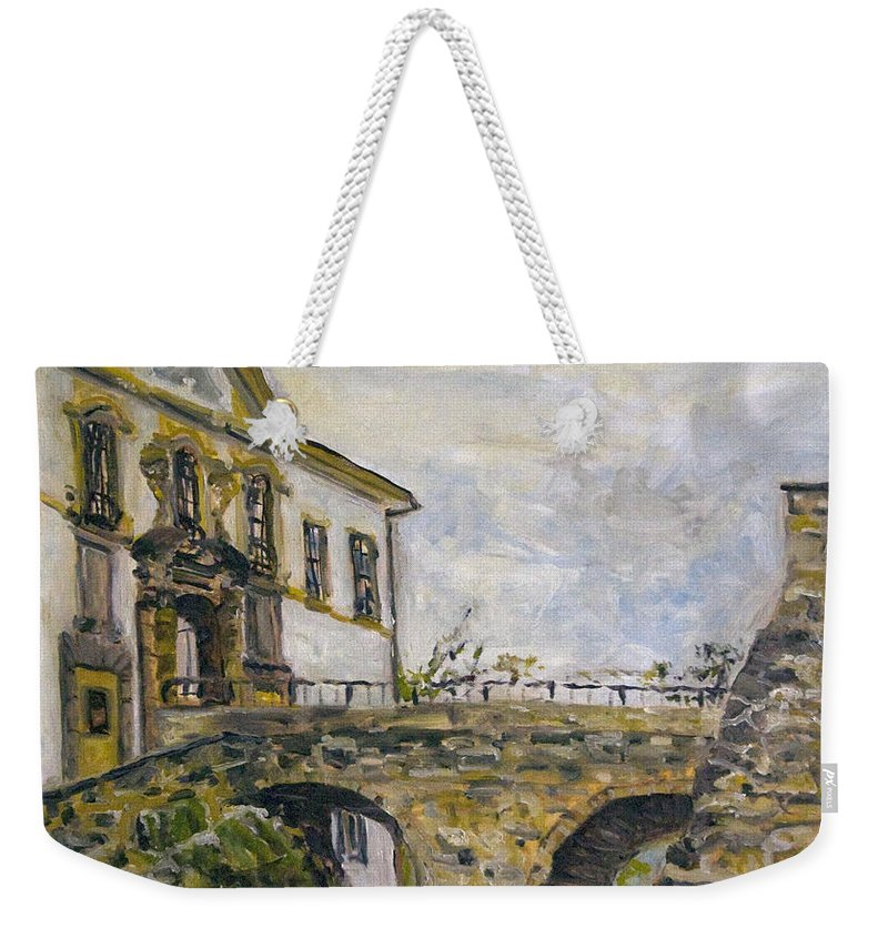 Landscape Weekender Tote Bag featuring the painting Vstup Na Zamek by Pablo de Choros