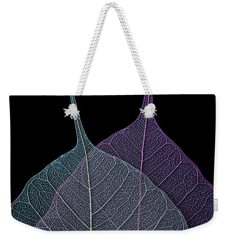 Leaves Weekender Tote Bag featuring the photograph Vulnerability by Maggie Terlecki