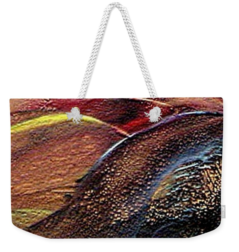 Hills Weekender Tote Bag featuring the painting W 010- Hills by Dragica Micki Fortuna