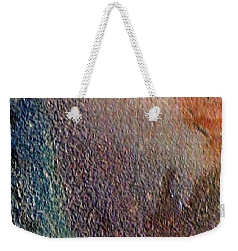 Abstract Landscape Weekender Tote Bag featuring the painting W 012 - No One's Land by Dragica Micki Fortuna