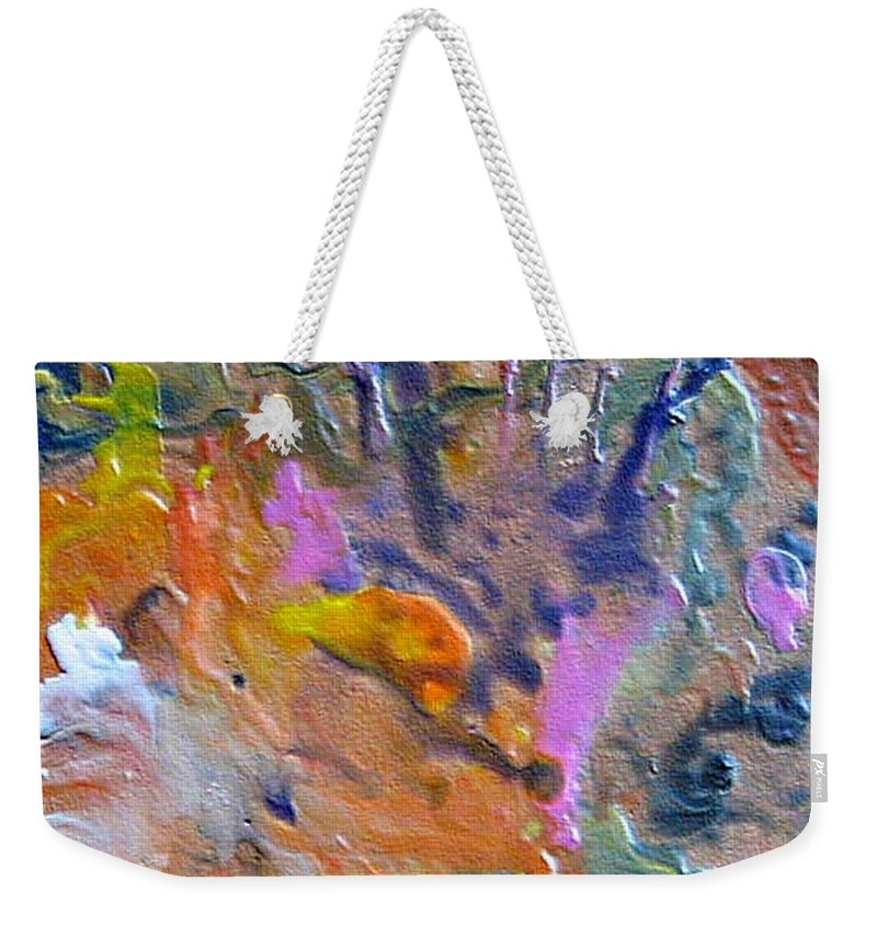 Abstract Weekender Tote Bag featuring the painting W 027 by Dragica Micki Fortuna