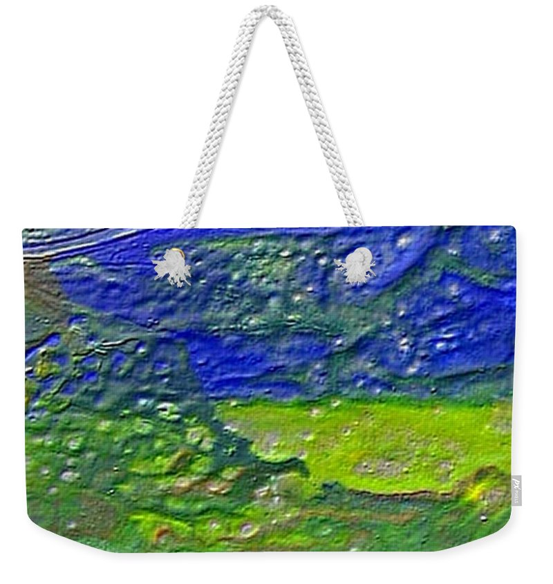 Encaustic Painting Weekender Tote Bag featuring the painting W 029 by Dragica Micki Fortuna
