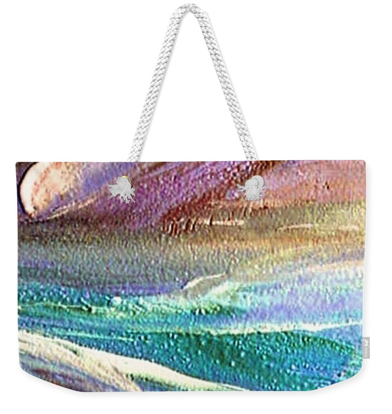 Comet Weekender Tote Bag featuring the painting W 034-comet by Dragica Micki Fortuna