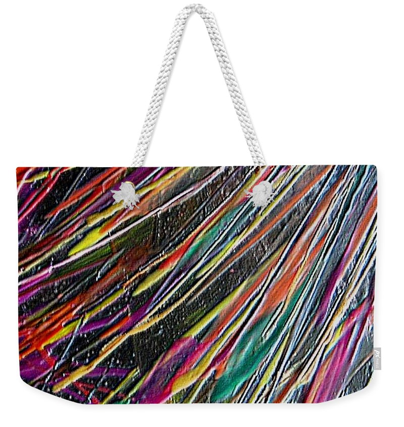 Abstract Weekender Tote Bag featuring the painting W 035 by Dragica Micki Fortuna