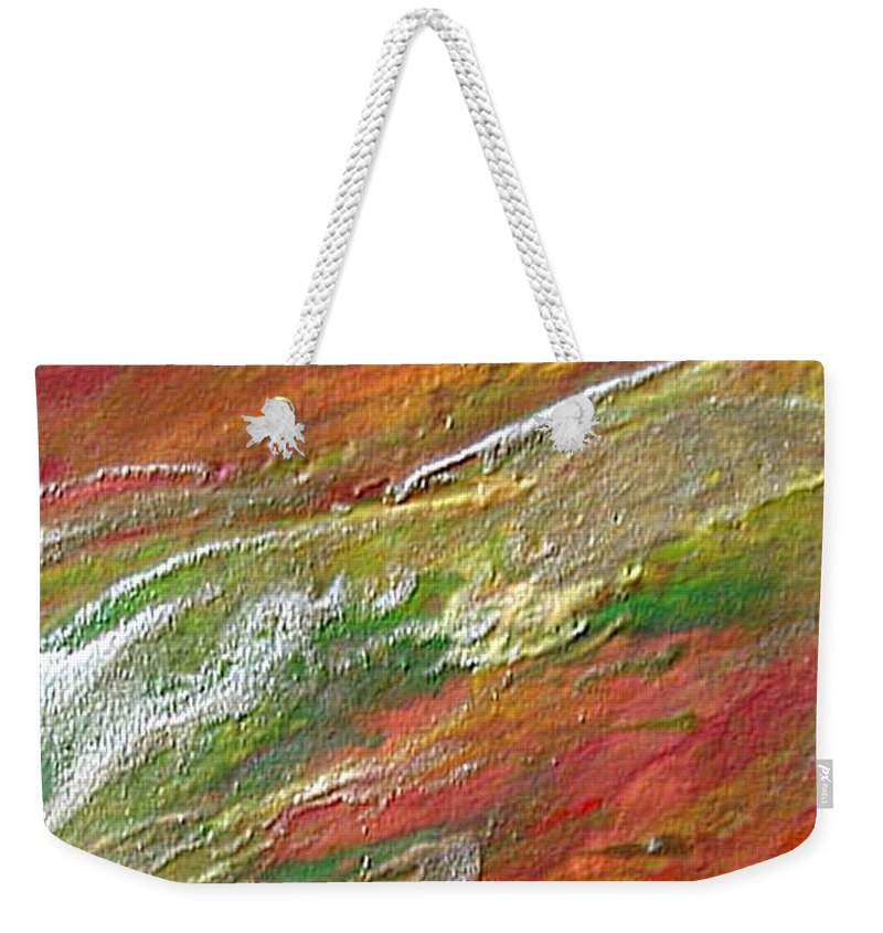 Abstract Weekender Tote Bag featuring the painting W 037 by Dragica Micki Fortuna