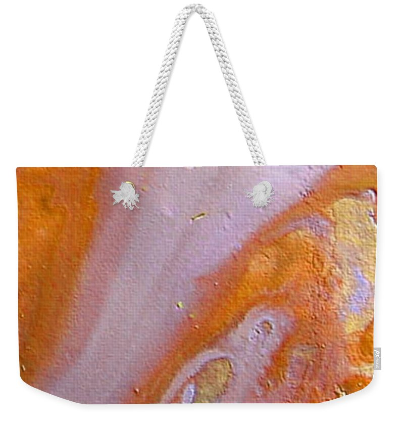 Abstract Silver River Weekender Tote Bag featuring the painting W 038 by Dragica Micki Fortuna