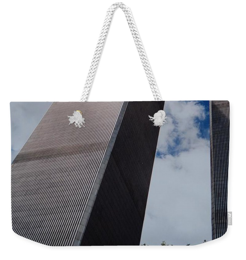 Wtc Weekender Tote Bag featuring the photograph W T C 1 And 2 by Rob Hans