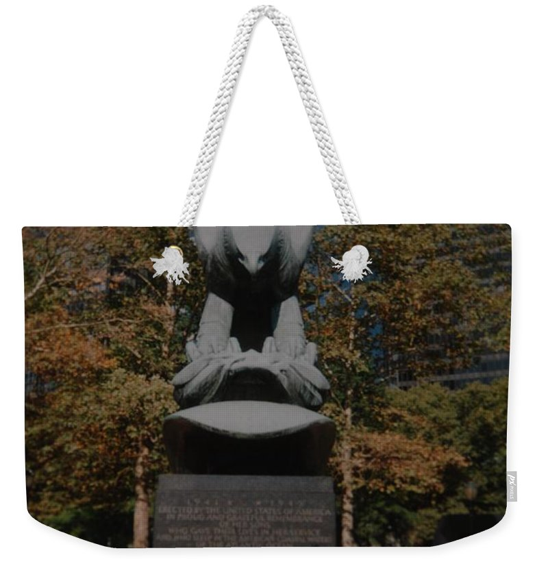 Ww Ii Weekender Tote Bag featuring the photograph W W II Eagle by Rob Hans