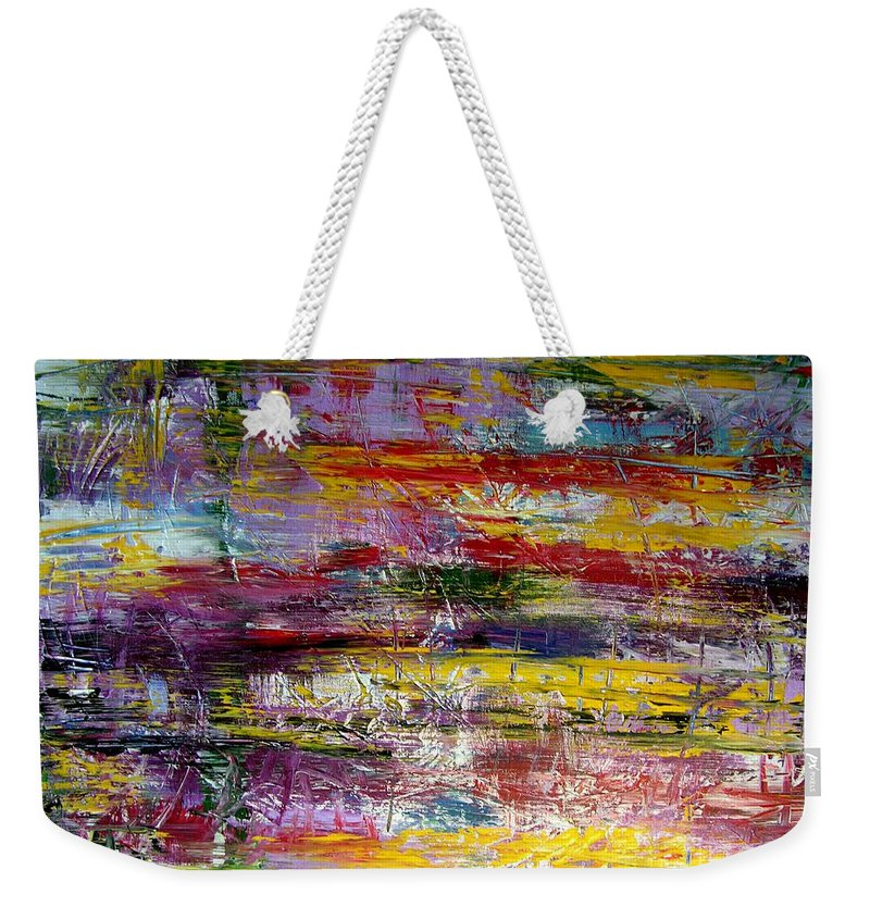 Abstract Painting Weekender Tote Bag featuring the painting W72 - Count On You by Kunst mit Herz Art with Heart