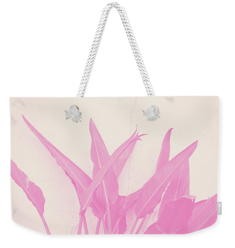 Tropical Plant Mixed Media Weekender Tote Bags
