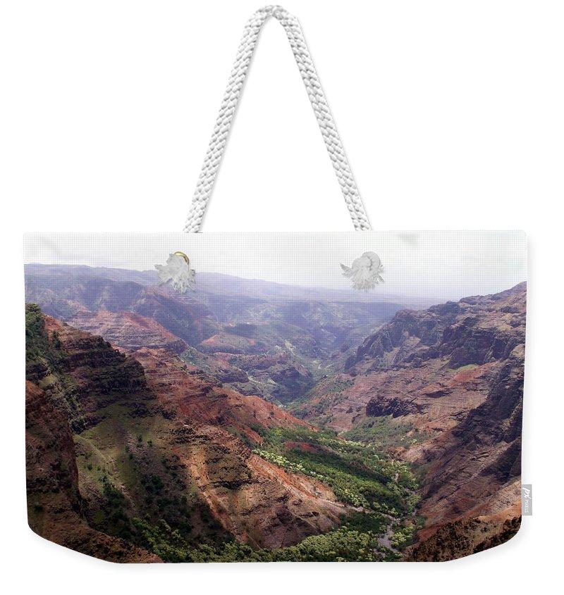 Waimea Weekender Tote Bag featuring the photograph Waimea Canyon 2 by Amy Fose